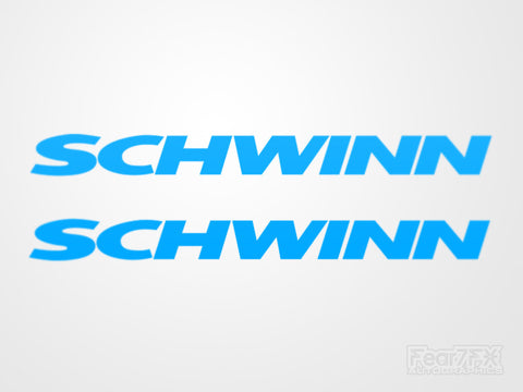 2x Schwinn Cycle Vinyl Transfer Decal