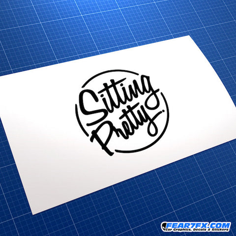 Sitting Pretty JDM Car Vinyl Decal Sticker