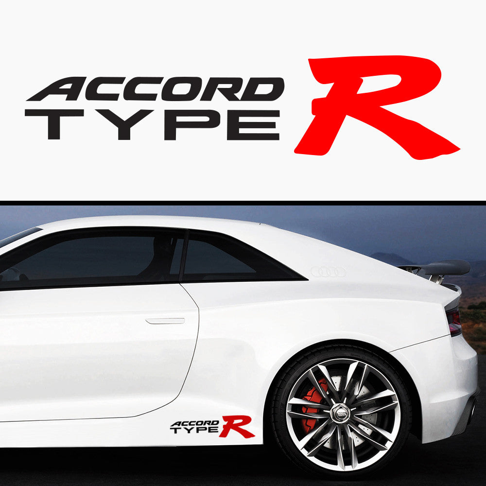 2x Accord Type R Side Skirt Body Vinyl Graphic