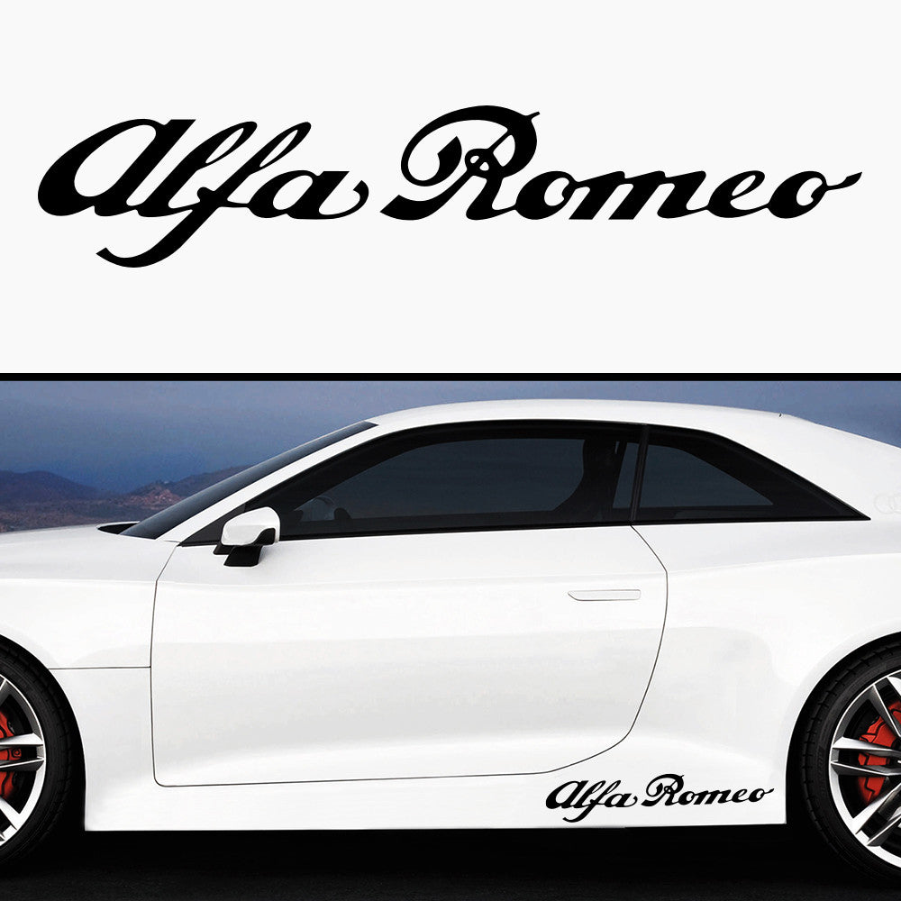 2x Alfa Romeo Side Skirt Vinyl Decal