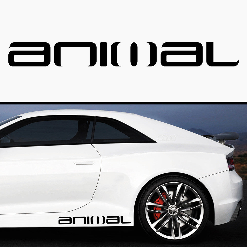 2x Animal Side Skirt Vinyl Decal