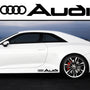 2x Audi V1 Side Skirt Vinyl Decal