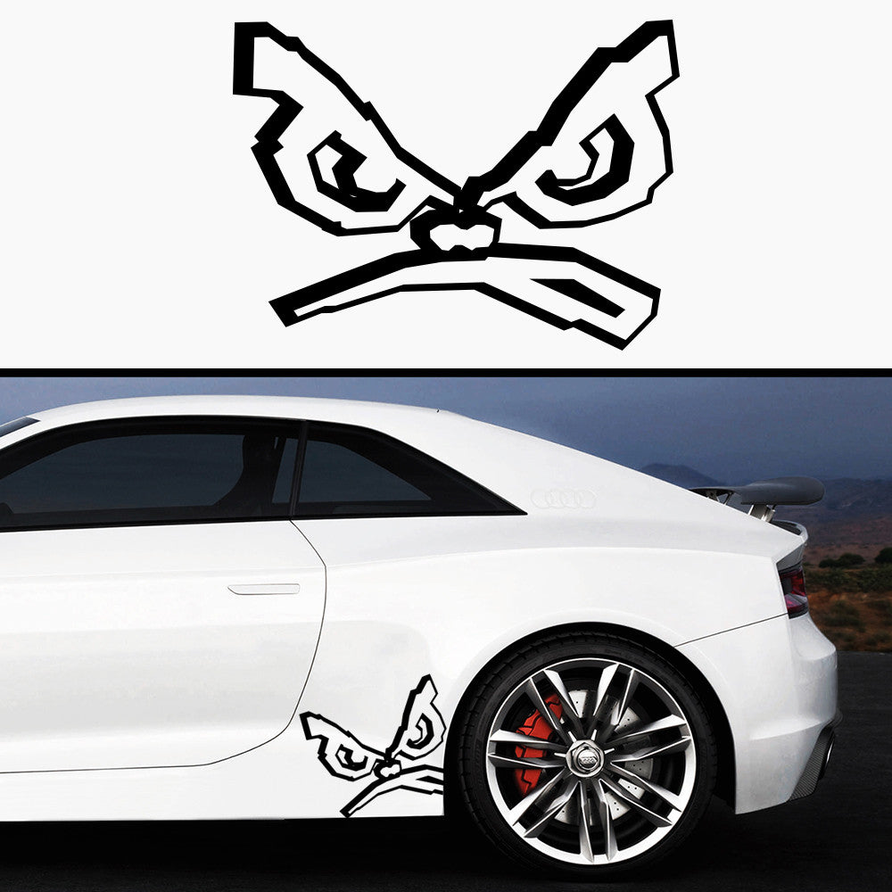 2x BadBoy 3D Side Skirt Vinyl Decal