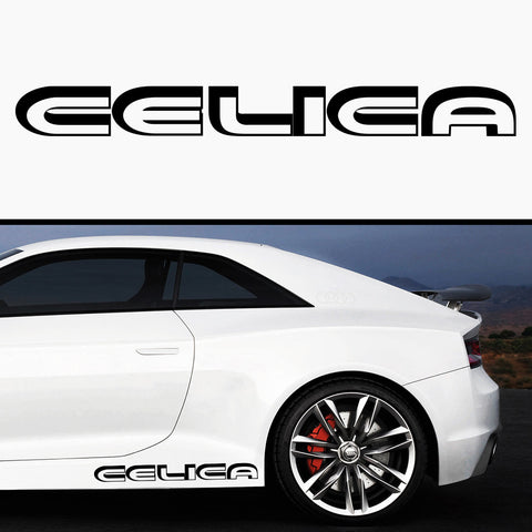 2x Toyota Celica 3D Side Skirt Vinyl Decal