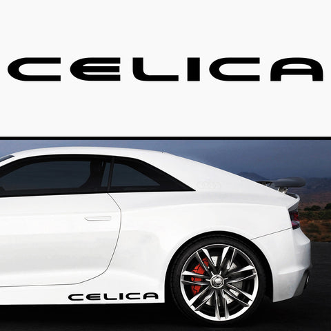 2x Toyota Celica Side Skirt Vinyl Decal