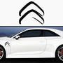 2x Citroen New Badge Rare Side Skirt Vinyl Decal
