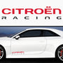2x Citroen Racing Side Skirt Body Vinyl Graphic