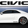 2x Civic V1 Side Skirt Vinyl Decal