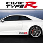 2x Civic Type R Side Skirt Body Vinyl Graphic