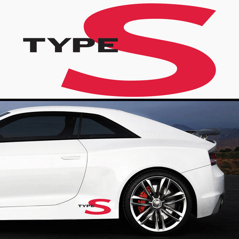 2x Type S Side Body Vinyl Graphic