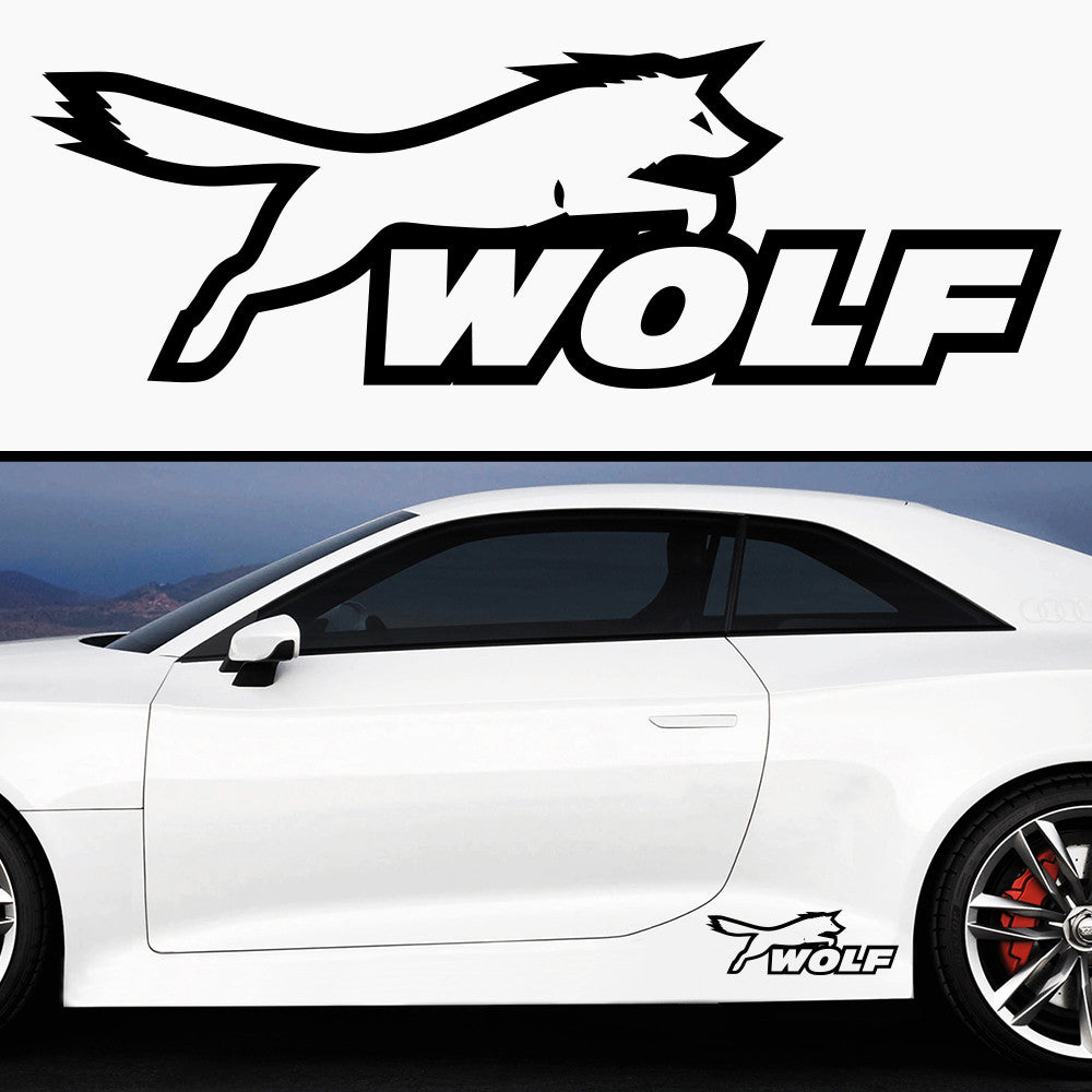 2x Ford Wolf Racing Rare Side Skirt Vinyl Decal