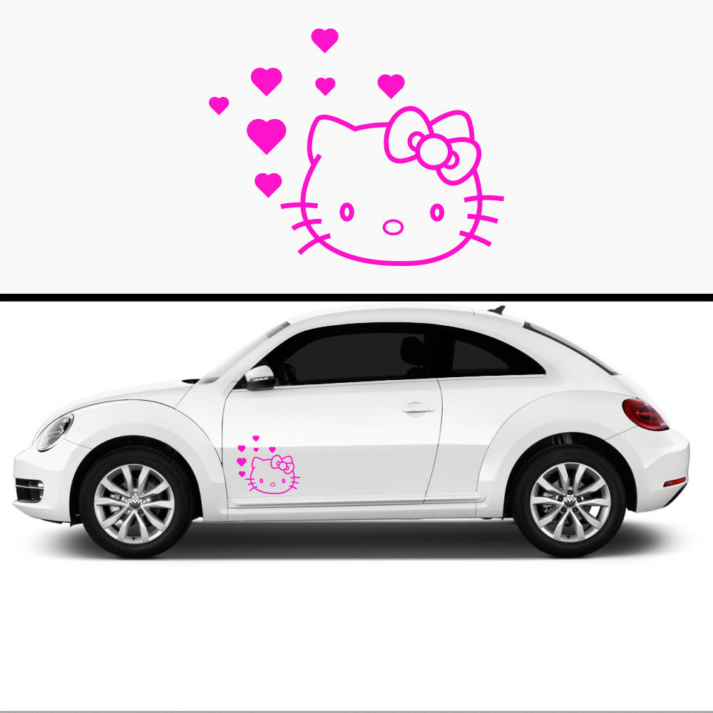 2x Hello Kitty Side Skirt Body Vinyl Graphic