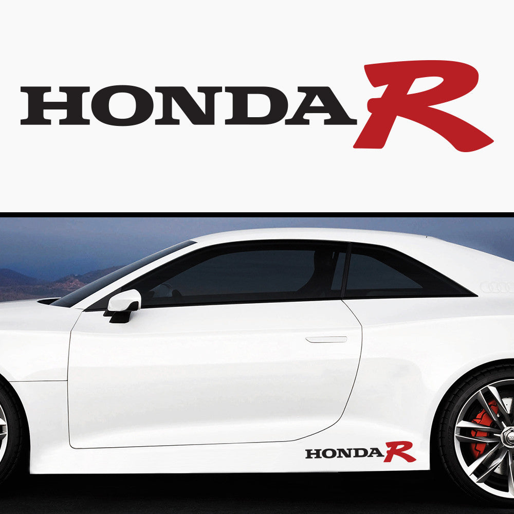 2x Honda R Side Skirt Body Vinyl Graphic