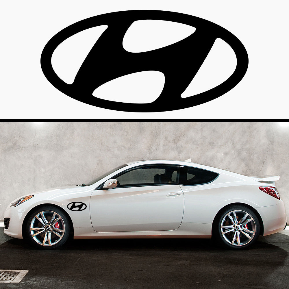 2x Hyundai Badge Side Skirt Vinyl Decal