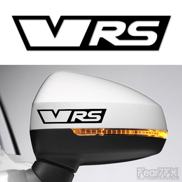 2x VRS Side Mirror Vinyl Transfer Decals