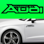 2x Powered By Audi Body Part Decal