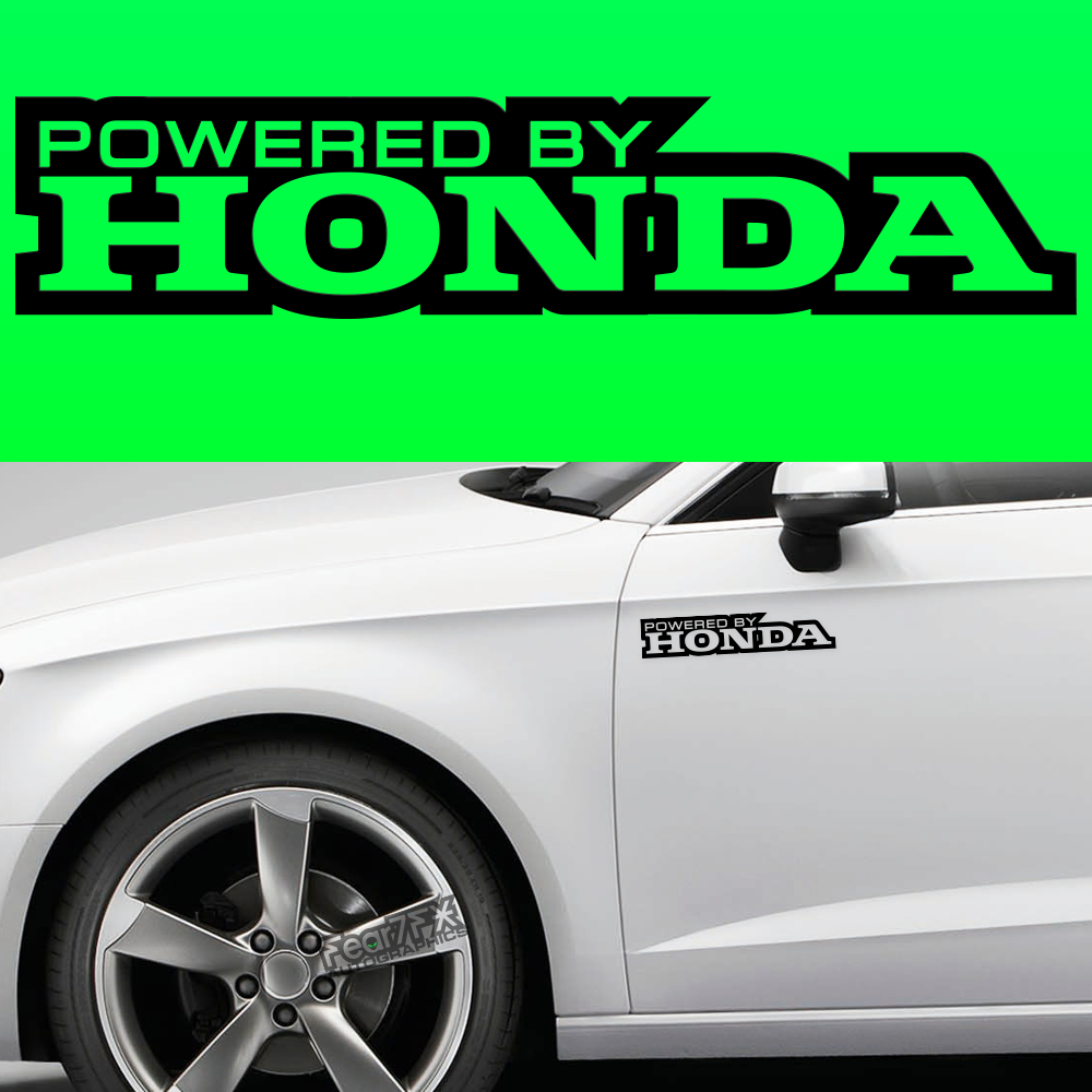 2x Powered By Honda Body Part Decal