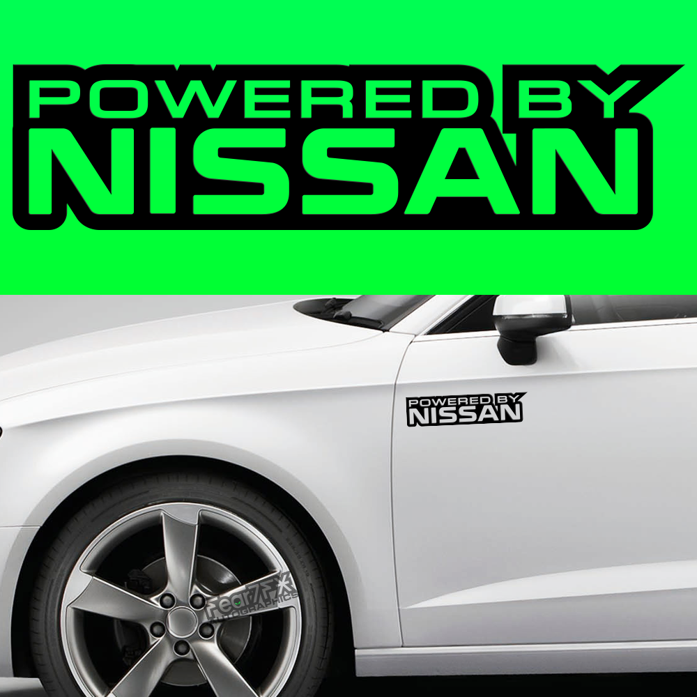 2x Powered By Nissan Body Part Decal