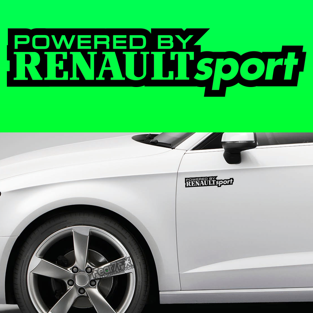 2x Powered By Renault Body Part Decal