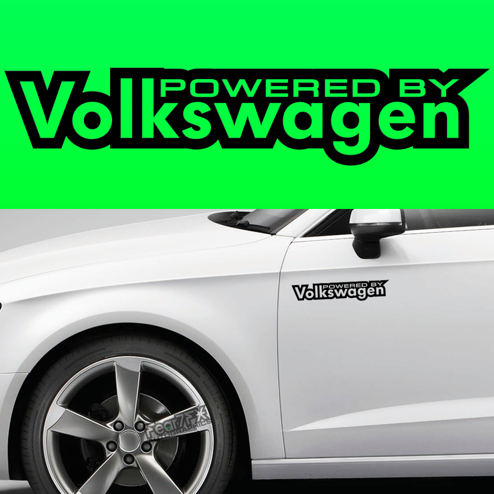 2x Powered By Volkswagen Body Part Decal