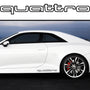 2x Quattro Outline Side Skirt Vinyl Decal