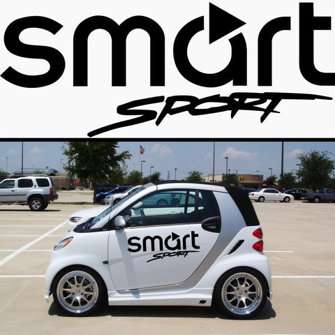 2x Smart Sport Vinyl Body Graphic