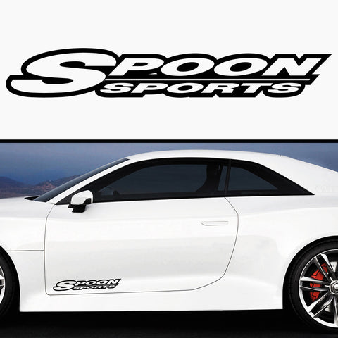 2x Spoon Sports 3D Side Skirt Vinyl Decal