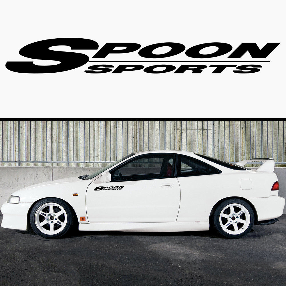 2x Spoon Sports Side Skirt Vinyl Decal