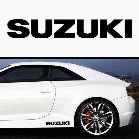 2x Suzuki Rare Side Skirt Vinyl Decal
