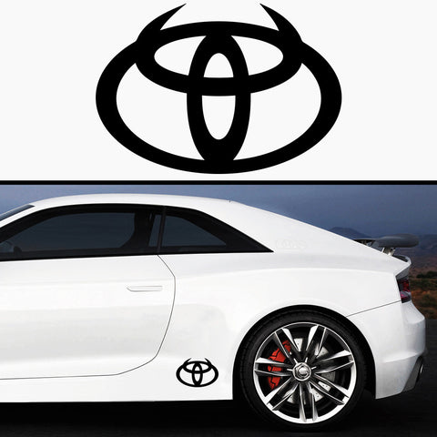 2x Toyota Devil Side Skirt Body Vinyl Graphic