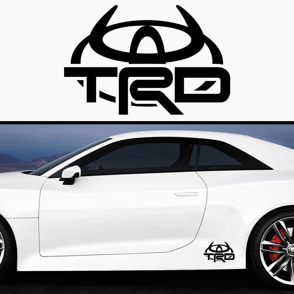 2x TRD Devil Side Skirt Body Vinyl Graphic