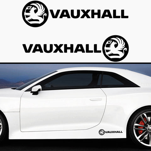 2x Vauxhall Side Skirt Vinyl Decal