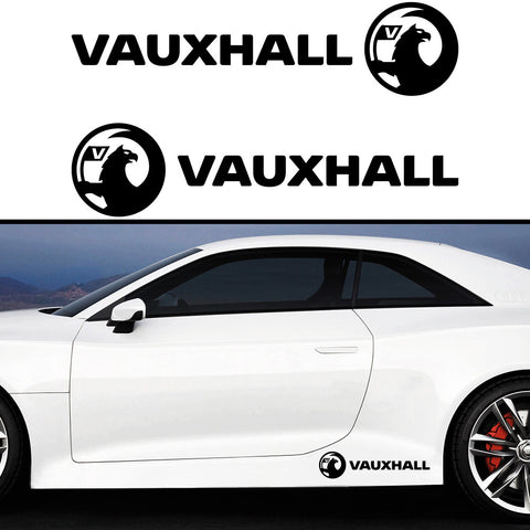 2x Vauxhall New Side Skirt Vinyl Decal