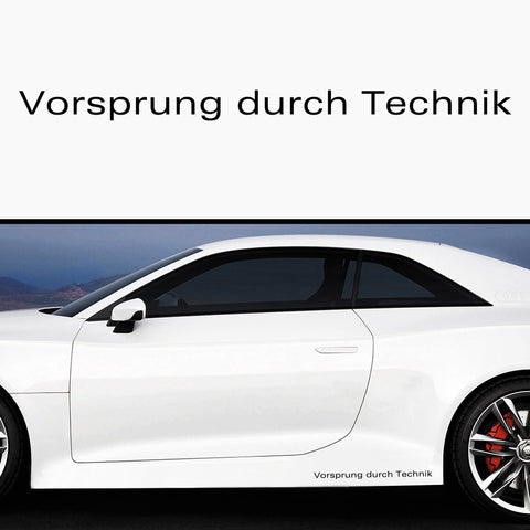 2x Vorsprung Durch Technik Side Skirt Vinyl Decal