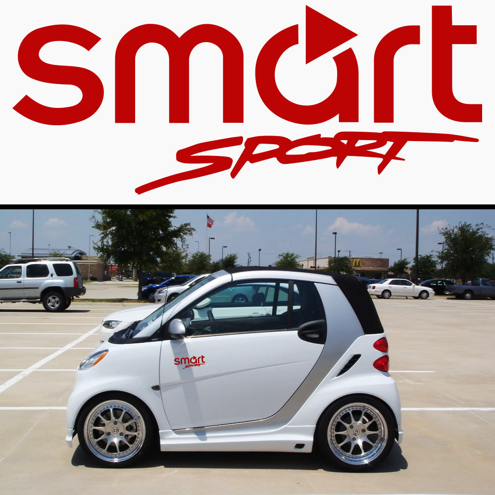 2x Smart Sport Side Skirt Vinyl Decal