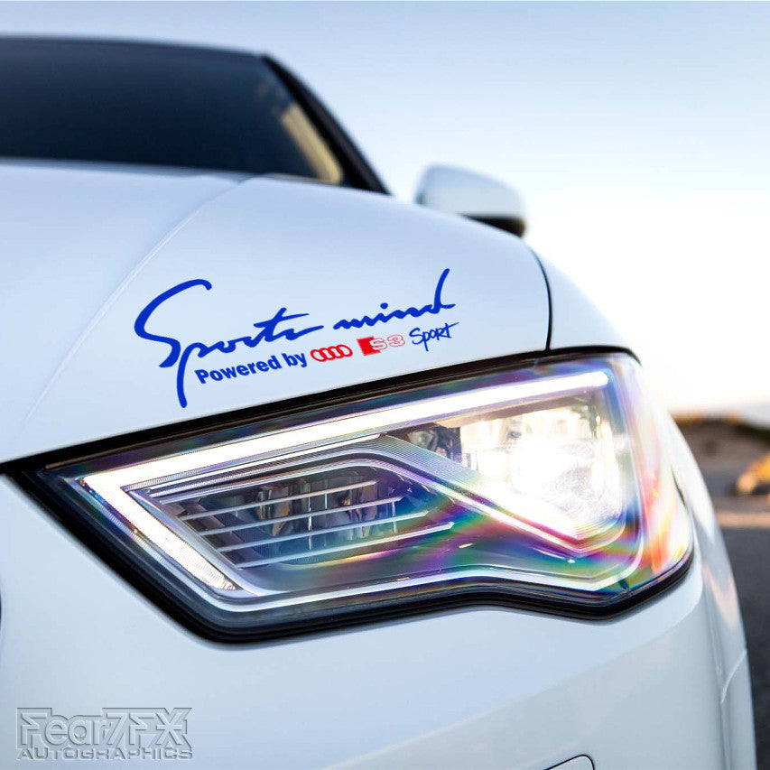 1x Sports Mind Powered By Audi S3 Decal