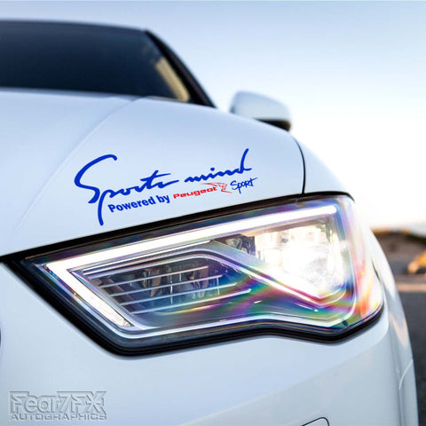 1x Sports Mind Powered By Peugeot Sport Decal