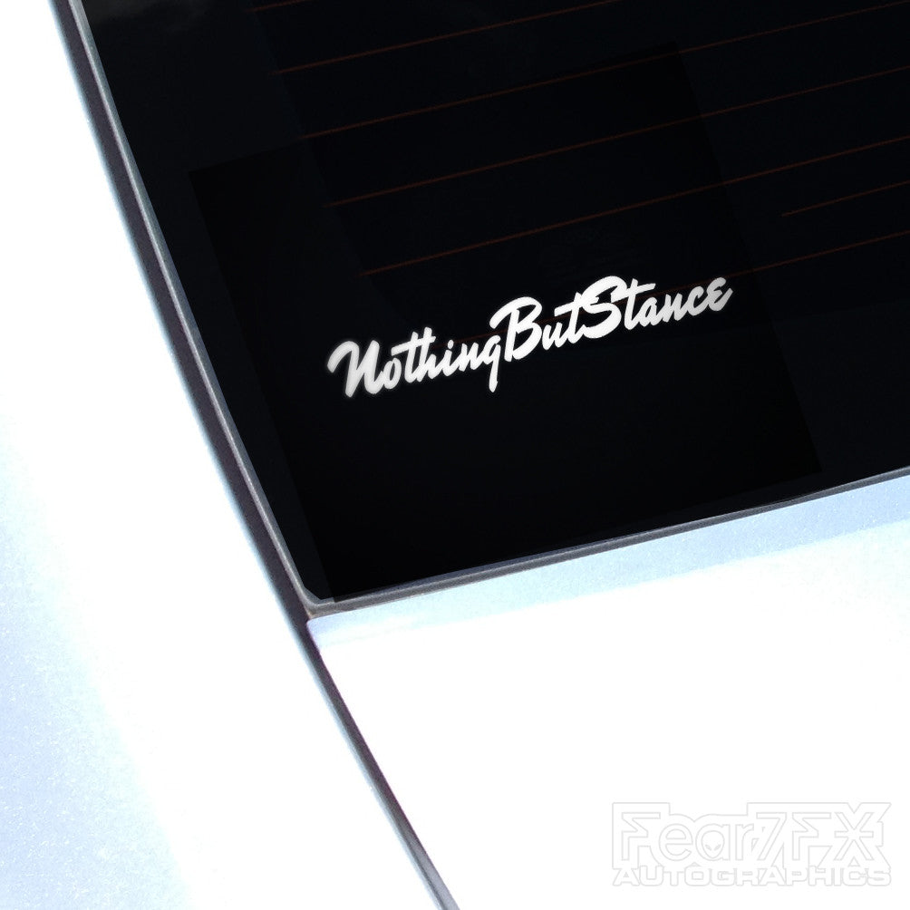 Nothing But Stance Euro JDM Decal Sticker