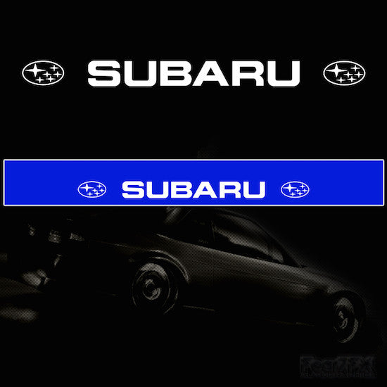 Subaru V1 Vinyl Windscreen SunStrip Any 2 Colours