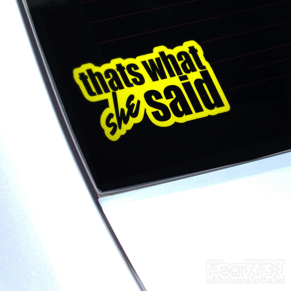 Thats What She Said Funny Euro Decal Sticker