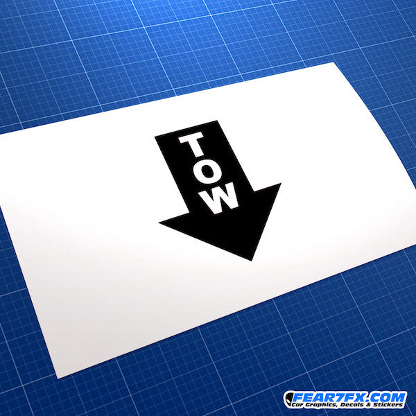 TOW Arrow V3 Funny JDM Car Vinyl Decal Sticker