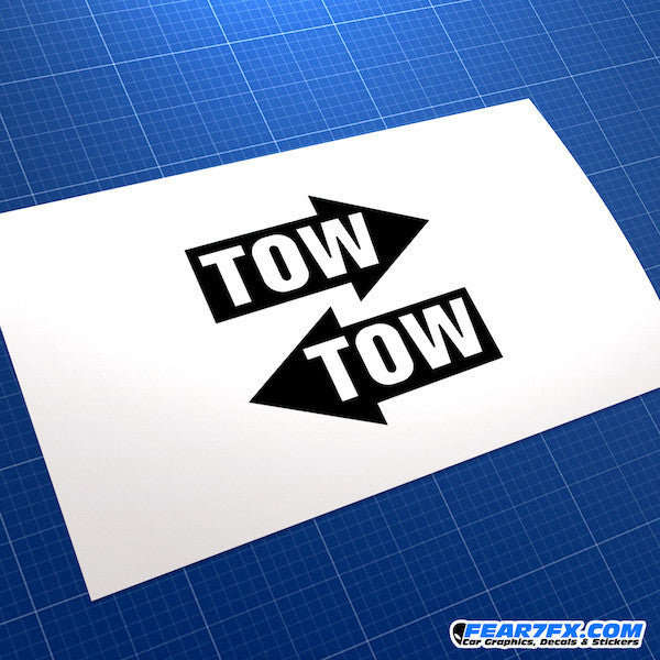 TOW Arrow x2 V4 Funny JDM Car Vinyl Decal Sticker