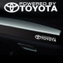 2x Toyota Dashboard Powered By Vinyl Decal