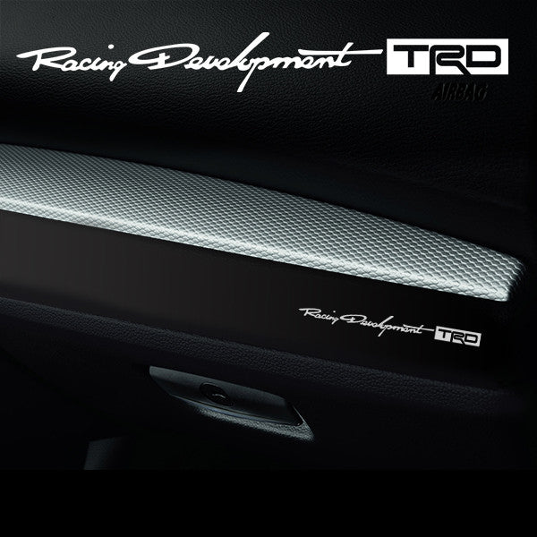 2x Racing Development TRD Dashboard Vinyl Decal