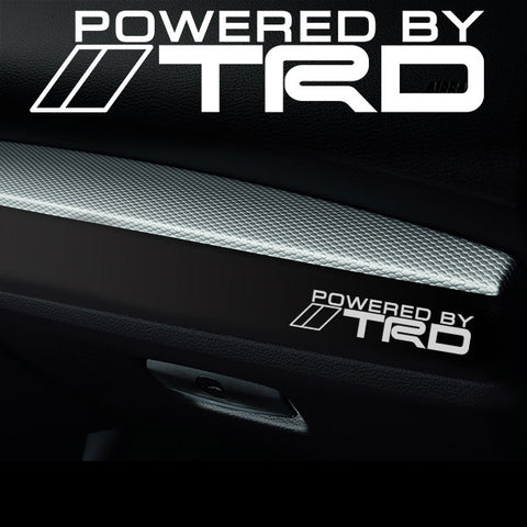 2x TRD Dashboard Powered By Vinyl Decal