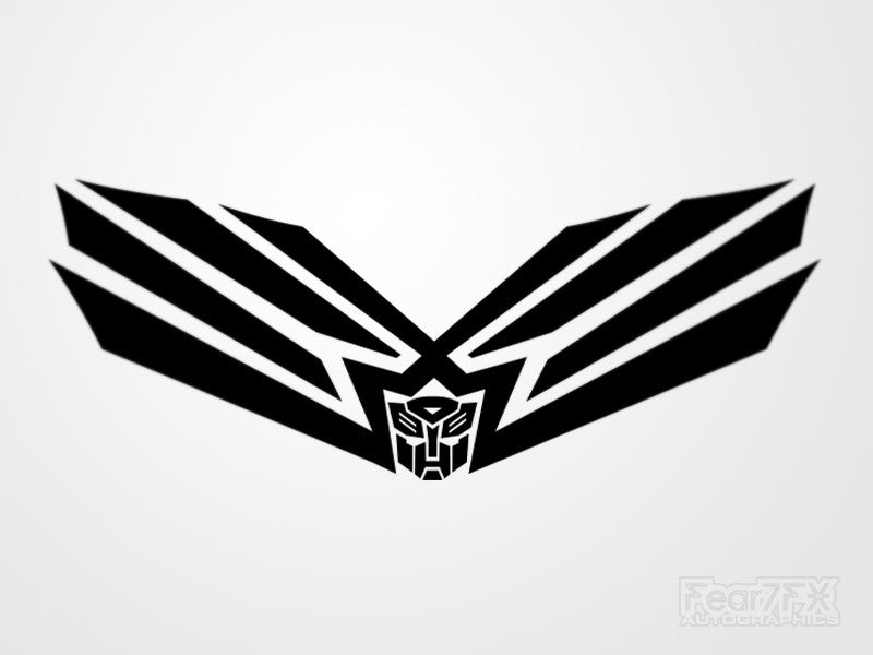 2x Transformers V2 Vinyl Transfer Decal
