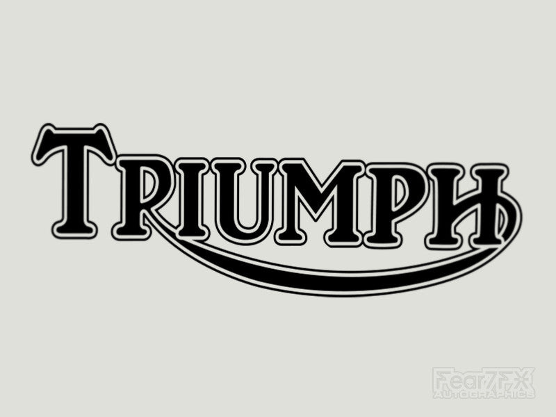 2x Triumph Bike Vinyl Transfer Decal