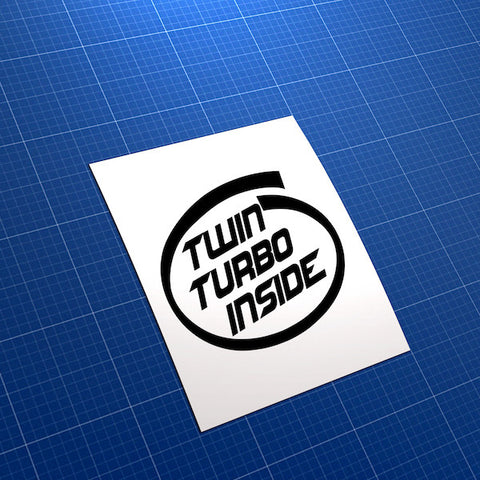 Twin Turbo Inside JDM Car Vinyl Decal Sticker