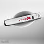 4x Type R Door Handle Vinyl Decals