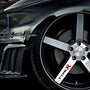 5x Type R Alloy Wheel Vinyl Transfer Decals